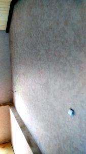 Отделка лестничного марша декоративной штукатуркой мокрый шёлк