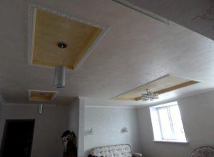 отделка потолка декоративной штукатуркой мокрый шёлк в Уфе
