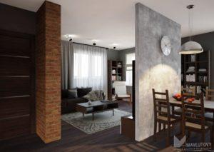 Ремонт квартиры в стиле лофт в Уфе