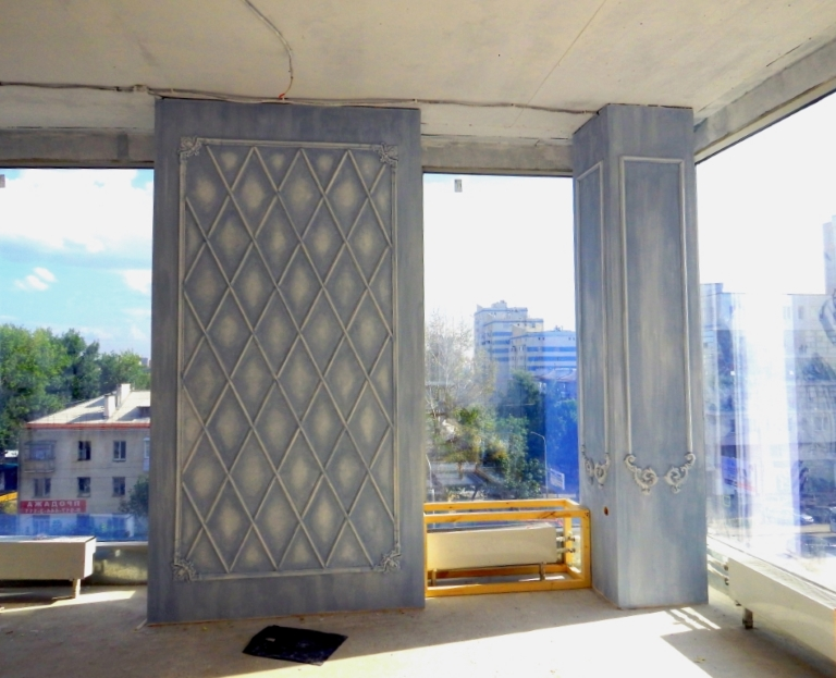 Декорирование лепнины и декоративная покраска в Уфе