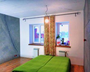 отделка спальни в стиле лофт